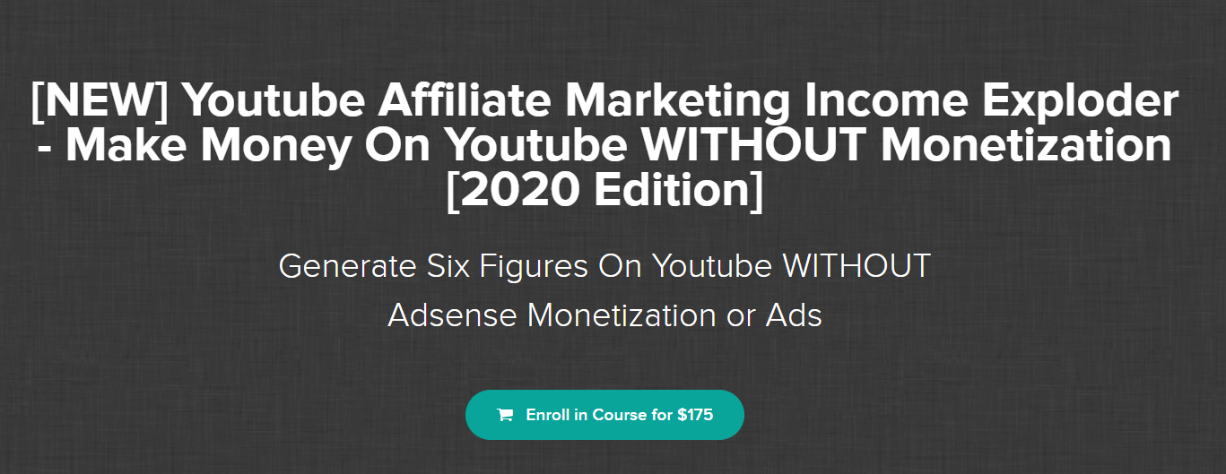 Youtube Affiliate Marketing Income Exploder
