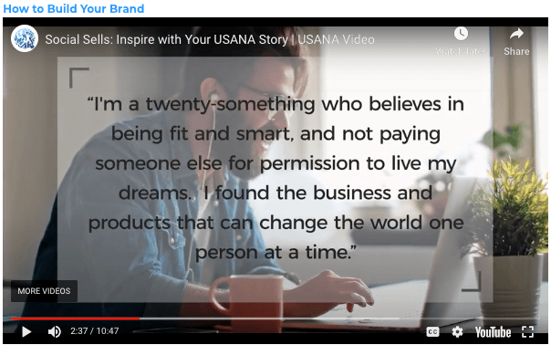 Selling USANA using Social Media Your Personal Brand Statement Man