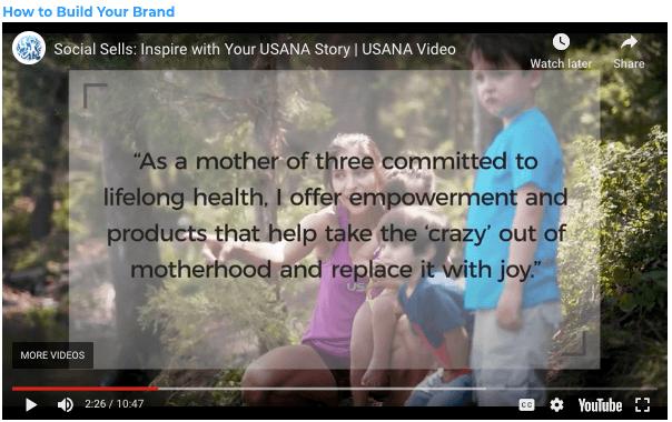 USANA online Selling USANA using Social Media Your Personal Brand Statement Mum