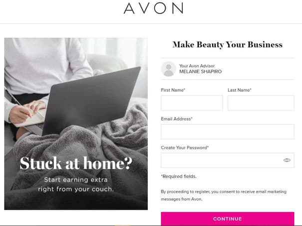 How To Sell Avon Online Only avon-signup