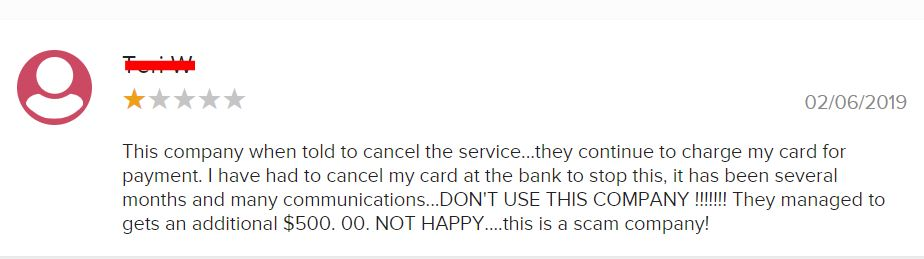 Is Billy Gene Is Marketing A Scam? bbb negative review1