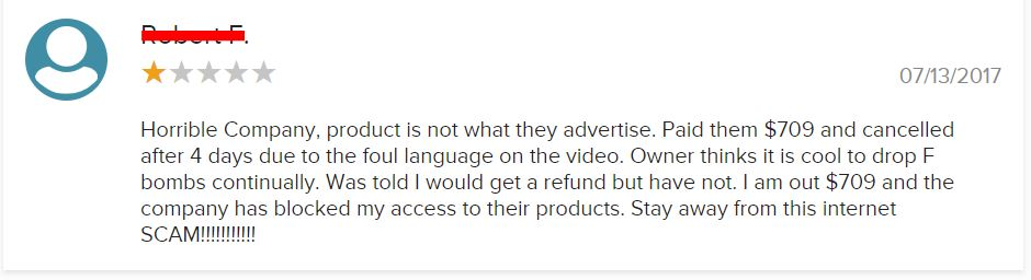 Is Billy Gene Is Marketing A Scam? bbb negative review