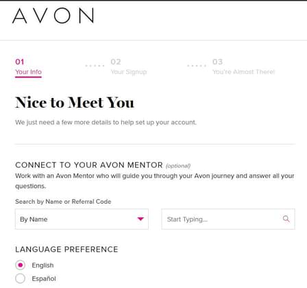 How To Sell Avon Online Only choosing a rep