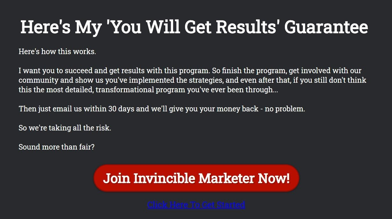 About Invincible Marketer: The Invincible Marketer Reviewr efund