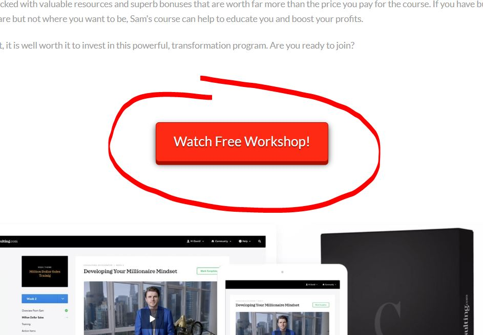 What Is Sam Ovens Consulting Accelerator About free workshop
