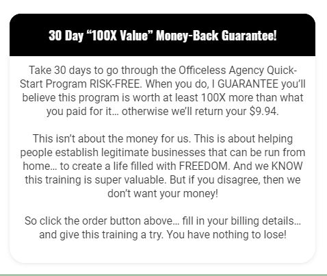 5 Reasons Officeless Agency Is Something You Should Avoid 30 day guarantee