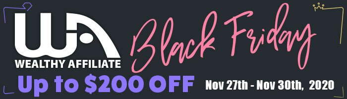 Wealthy Affiliate Black Friday Cyber Monday Deal 2020