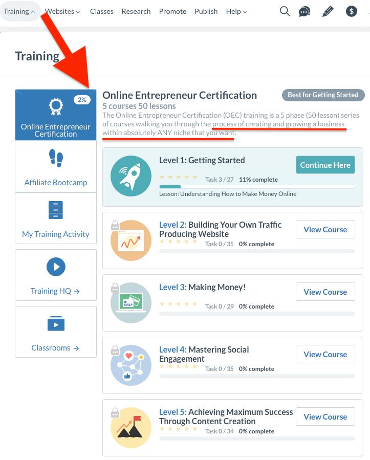 Wealthy Affiliate Training Online Entrepreneur Certification compressed