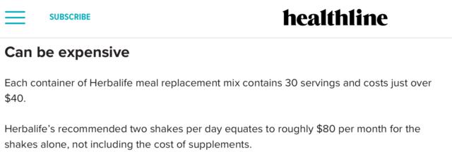 Can You Make Money Selling Herbalife - Healthline Herbalife Diet Review