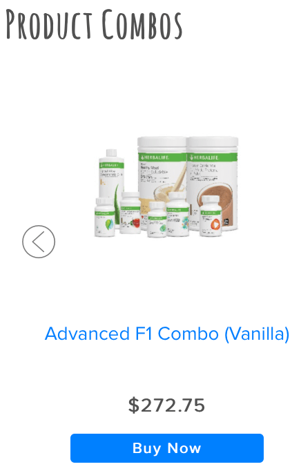 Can you Make Money Selling Herbalife Herbalife Product Combinations Advanced F1 Combo