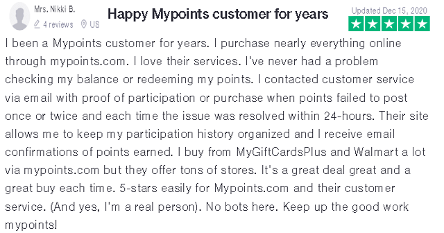 My Points Positive Review