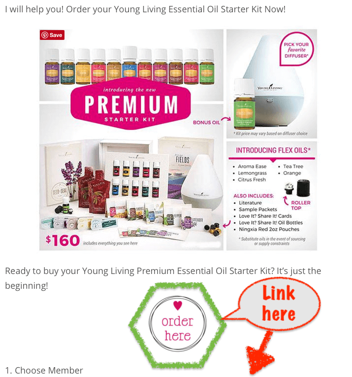 How to Sign up for a premium starter kit from Young Living link