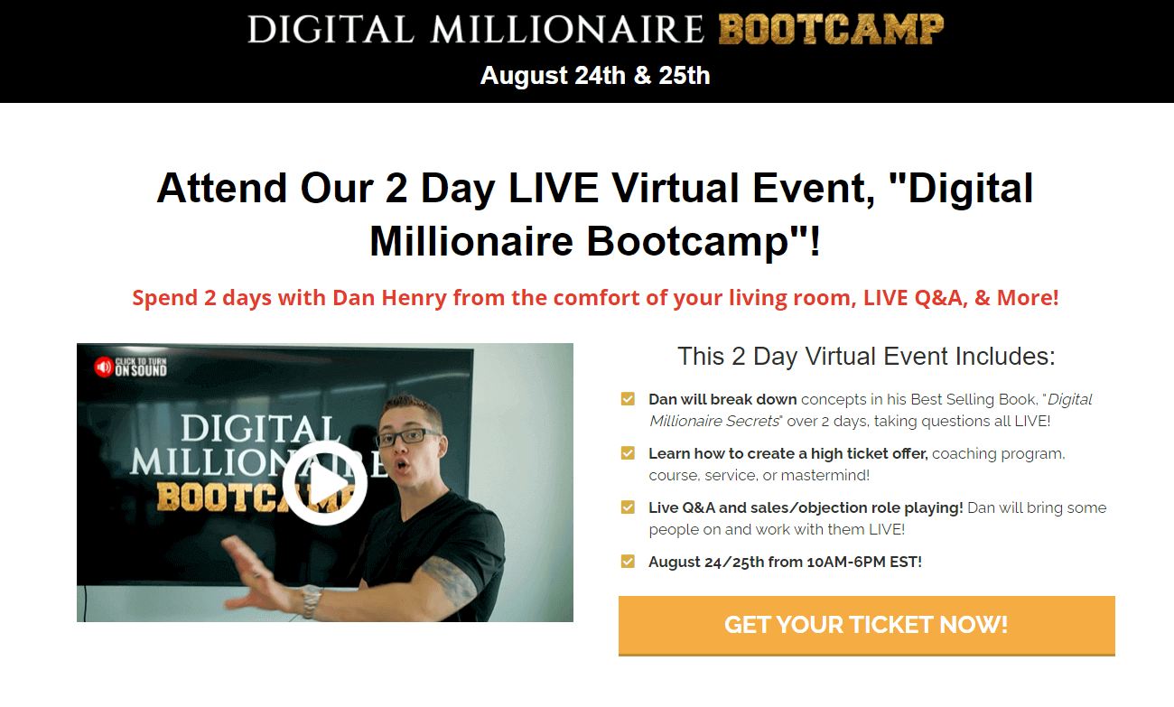 is dan henry a scam digital millionaire bootcamp