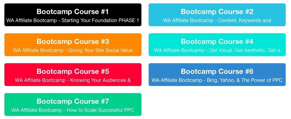 Is WEALTHY AFFILIATE worth it or not wealthy-affiliate-bootcamp-course-outline