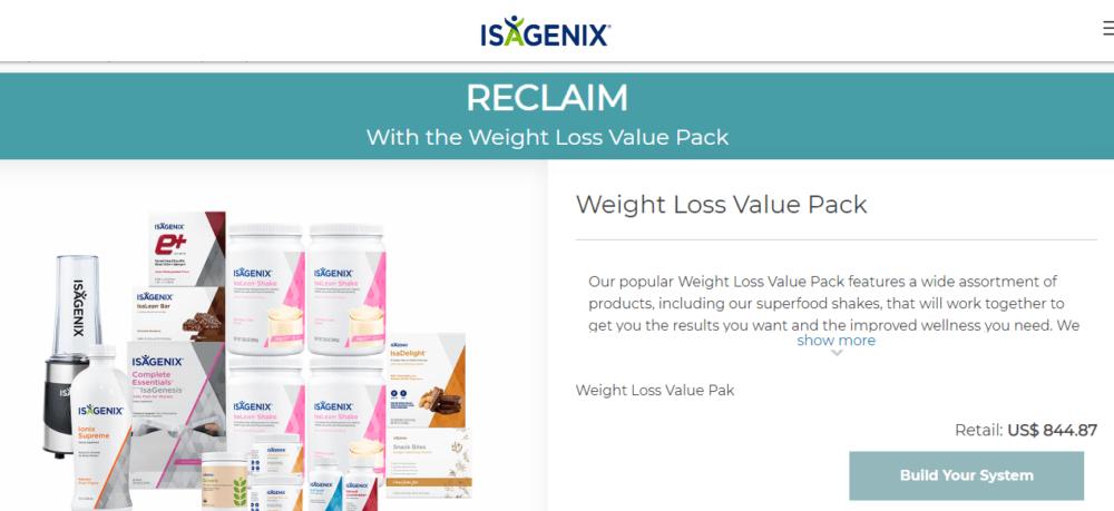Isagenix weightloss package