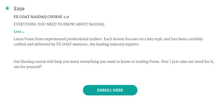 What is Fx Goat Nasdaq 2.0 Description