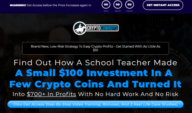 Crypto Cowboys Review Website Interface