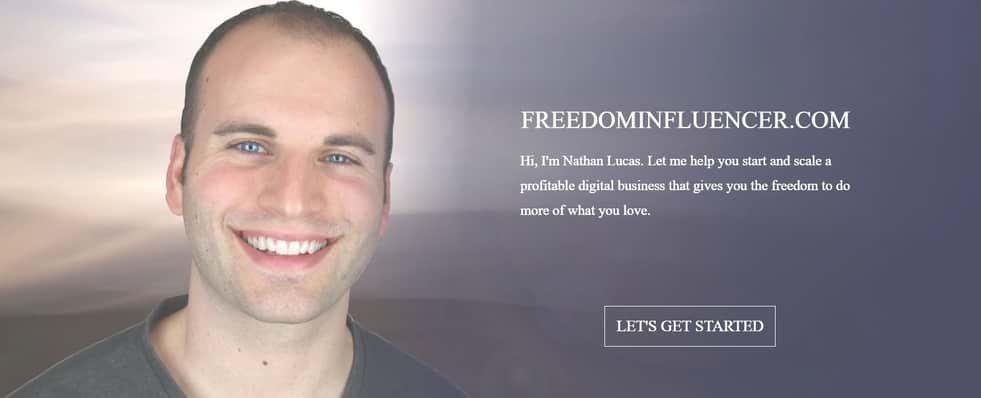 Nathan-Lucas-Freedom-Influencer website
