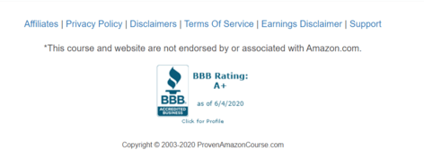 What Is Proven Amazon Course About bbb rating
