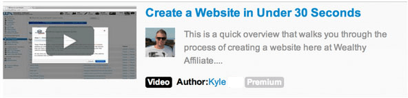Wealthy Affiliate create a website in under 30 seconds