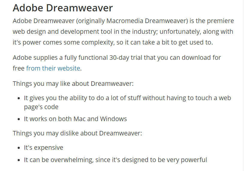 Wealthy Affiliate vs Affilorama Review dreamweaver image