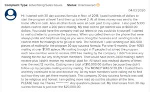 Is 30 day success formula a scam bbb complaints 2 image