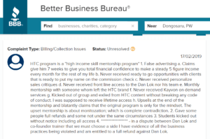 Dan Lok High Ticket Closer Program bbb complaint