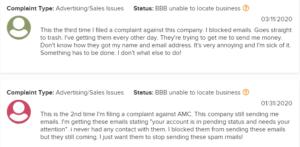 Is Affiliate Millionaire Club a Scam spam complaint screenshot