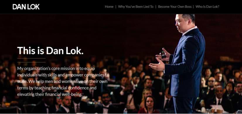 Dan Lok High Ticket Closer Program website