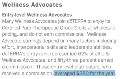 can you make money selling doTERRA entry level