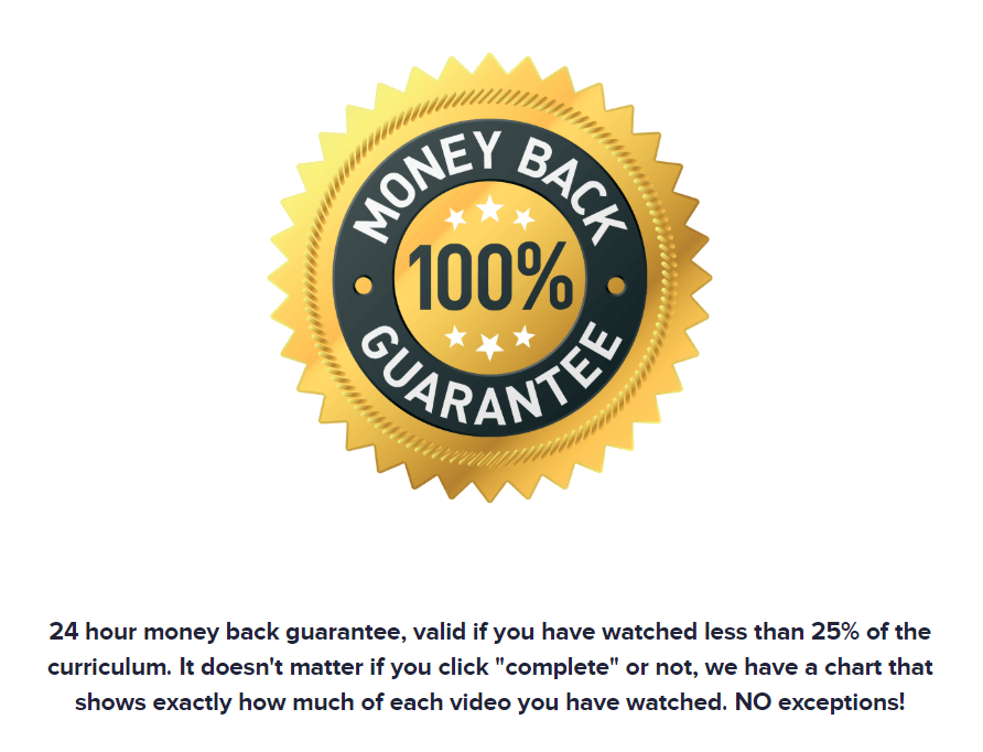 What is Bye 9 to 5 About money back guarantee