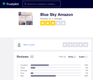 trustpilot blue sky review