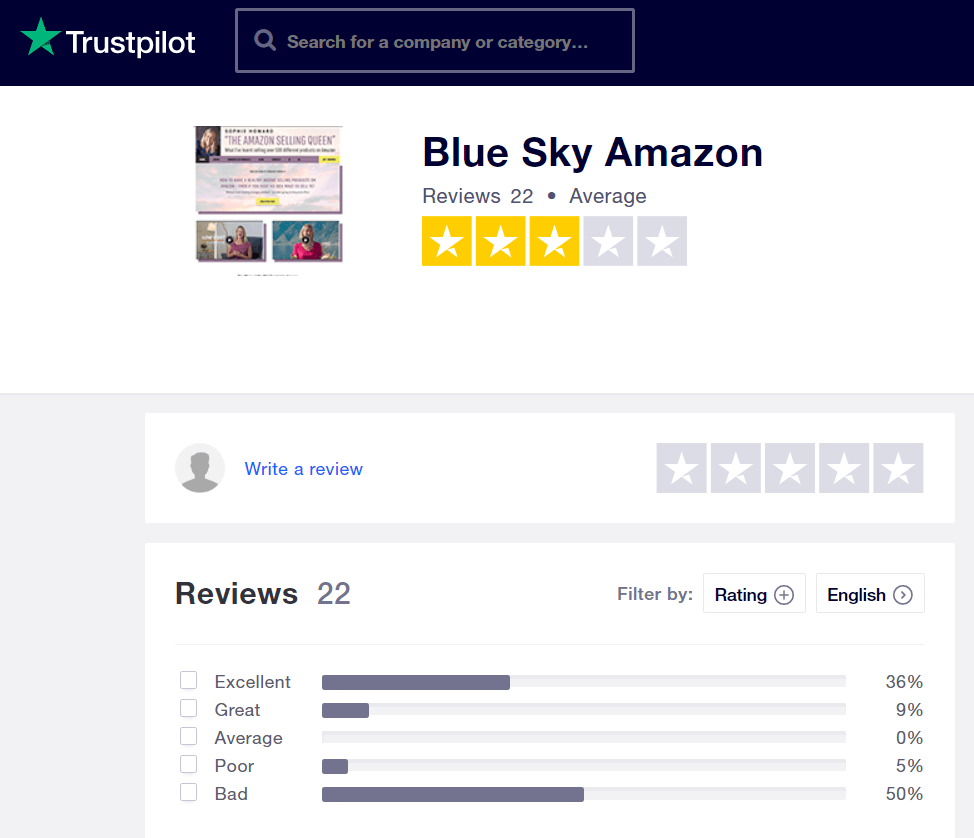 What Is Blue Sky Amazon Course About teaching style trustpilot